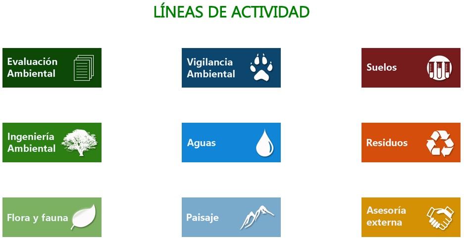 Líneas de actividad. PERSEA Soluciones Ambientales S.L.